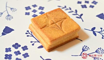 日本東京必買送禮用的手信中推介的PRESS BUTTER SAND的正方形的曲奇餅皮頗厚