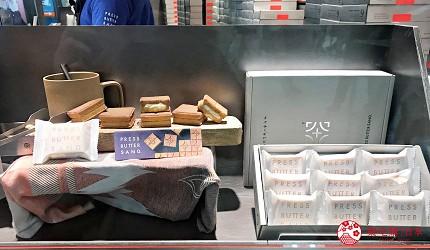 日本東京必買送禮用的手信中推介的PRESS BUTTER SAND分店內的商品展示