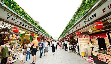 日本東京帶仔女自由行4日3夜交通行程懶人包推薦的親子遊推介仲見世通大街