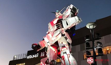 日本東京帶仔女自由行4日3夜交通行程懶人包推薦的親子遊推介台場的獨角獸高達燈光 Show