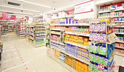东京新宿药妆优惠券推荐COSMOS科摩思歌舞伎町一丁目店店内人气商品货架