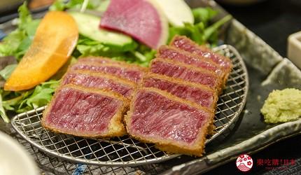 新宿必吃炸牛排专门店推荐「牛かつあおな」的霜降黑毛和牛套餐(霜降り黒毛和牛)套餐
