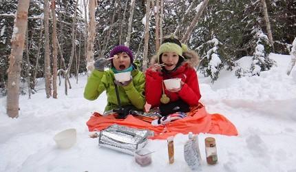 日本冬天自由行最好玩的乘鞍高原可以参与雪鞋健行