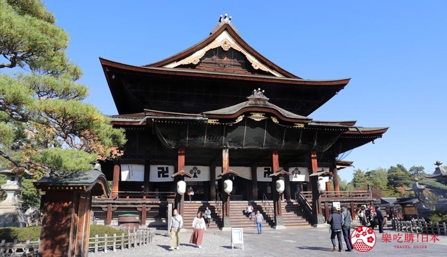 用萬歲PASS 2日乘車券可以去到的長野善光寺
