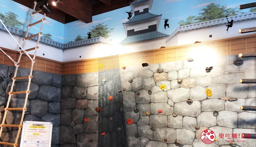 用萬歲PASS 2日乘車券可以去到的長野忍者大門的攀石設施