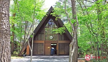 日本長野輕井澤一日遊必去人氣景點「輕井澤高原教會」