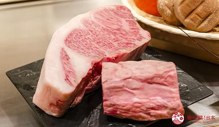 东京银座和牛铁板烧「しろや银座亭」提供的和牛松阪牛
