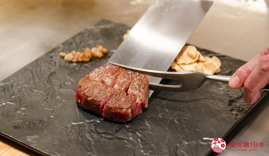 东京银座和牛铁板烧「しろや银座亭」的煎和牛松阪牛牛排