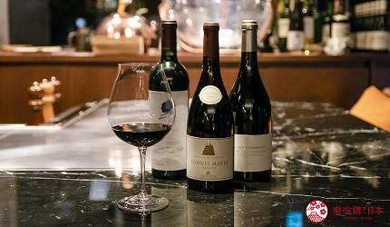 東京銀座和牛鐵板燒「しろや銀座亭」提供的紅酒