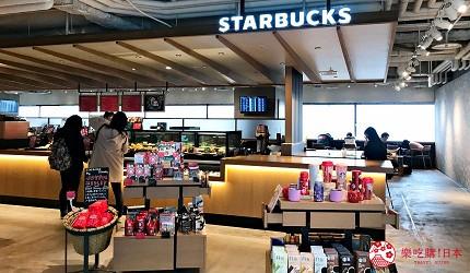 日本自由行shopping购物吃饭食饭玩乐设施都有的羽田机场的休息空间the hanadahouse的餐厅推荐推介可以看见飞机升降的星巴克 STARBUCKS的店舖内观