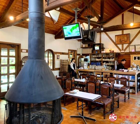 輕井澤一日遊必吃打卡美食的「珈琲館旦念亭」的用餐環境