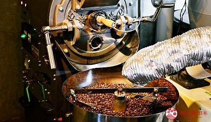 日本輕井澤長野附近療癒慢活女子旅推薦推介的佐久可以吃到的文青餐廳YUSHI CAFE天保堂咖啡的炒咖啡豆機
