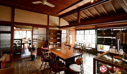 日本輕井澤長野附近療癒慢活女子旅推薦推介的佐久可以吃到的文青餐廳YUSHI CAFE天保堂咖啡的內觀