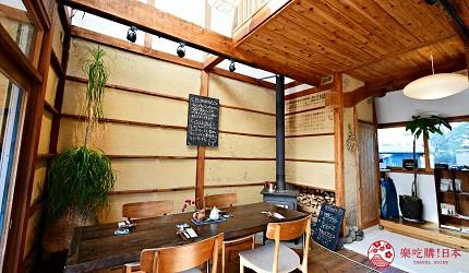 日本輕井澤長野附近療癒慢活女子旅推薦推介的佐久可以吃到的文青餐廳Maru Cafe的坐位區