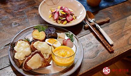 日本輕井澤長野附近療癒慢活女子旅推薦推介的佐久可以吃到的文青餐廳Maru Cafe的麵包起司加湯套餐芝士多士加湯加湯