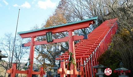 日本輕井澤長野附近療癒慢活女子旅推薦推介的佐久可以去絕美打卡位朱紅鳥居迴廊的臼田稻荷神社