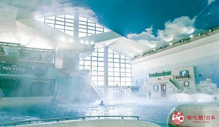 日本親子景點推薦推介箱根穿泳衣也能泡的合家歡溫泉水上樂園箱根小涌園 Yunessun的諸神的愛琴海區