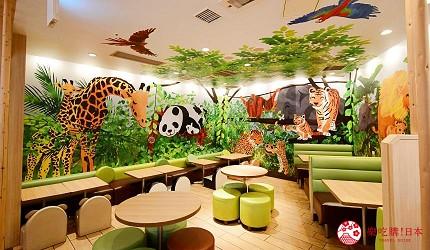 东京赏樱亲子游必到上野L'UENO吃日本最有名的速食LOTTERIA的儿童专区