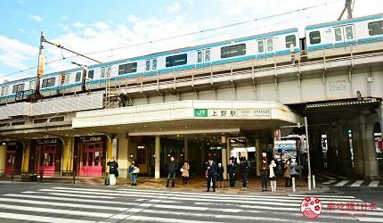 东京赏樱亲子游必到上野L'UENO吃日本最有名的速食LOTTERIA附近的上野站不忍口出口