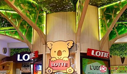 东京赏樱亲子游必到上野L'UENO吃日本最有名的速食LOTTERIA的树木主调的装潢