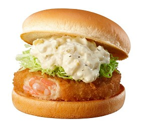 东京赏樱亲子游必到上野L'UENO吃日本最有名的速食LOTTERIA的炸虾饼汉堡