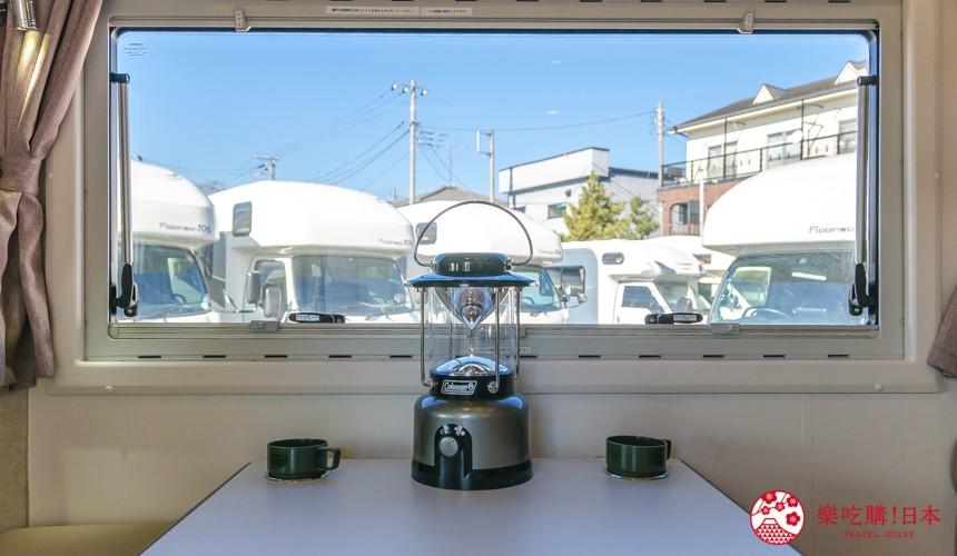 日本自由行自助自駕露營車租車JapanC.R.C露營車車內