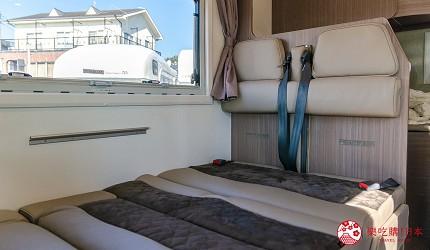 日本自由行自助自駕露營車租車JapanC.R.C露營車車內行動床鋪