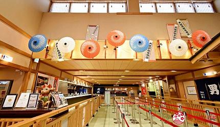 東京溫泉推介推薦台場大江戶溫泉物語門口和風裝飾