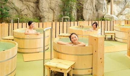 東京溫泉推介推薦台場大江戶溫泉物語女湯限定的桶風呂