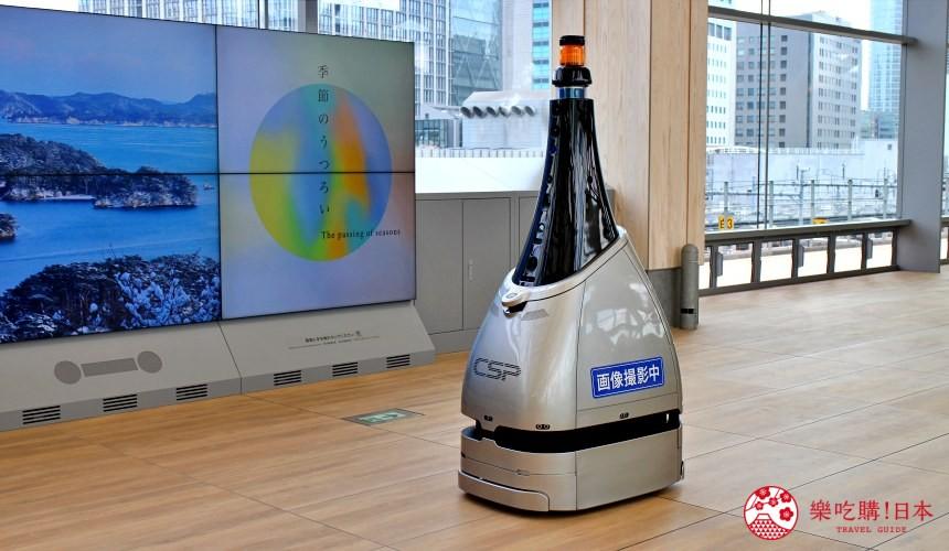 东京山手线「高轮Gateway站」车站机器人警察